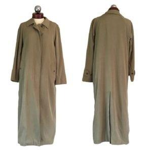 BURBERRY London full length coat trench jacket 14